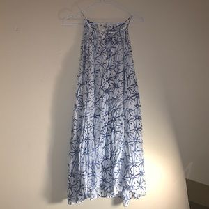 chelsea and violet blue patterned dress in S